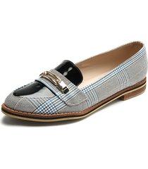 zapato casual dama azul escoses*charol  tellenzi 99014