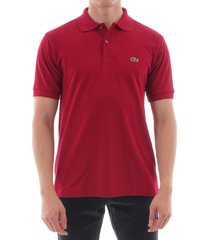 lacoste bordeaux l.12.12 short sleeved polo shirt l1212-476