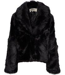alma faux fur jacket outerwear faux fur zwart by malina