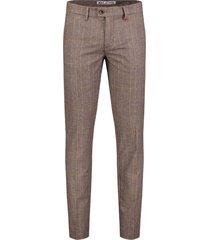 mac pantalon lennox bruin geruit