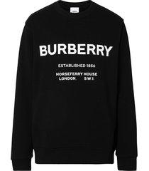burberry horseferry print sweatshirt - black