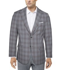 tallia men's slim-fit plaid suit jacket