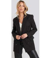 na-kd classic oversized boxy blazer - black