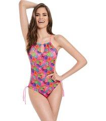 traje de baño monokini coral estampado 32 formas intimas