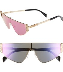 women's moschino 99mm shield sunglasses -