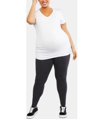 motherhood maternity plus size essential leggings