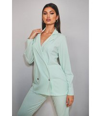 double breasted blazer & trouser suit set, mint