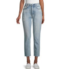 boyish women's the billy high-rise cropped skinny jeans - taxi drive - size 31 (10)