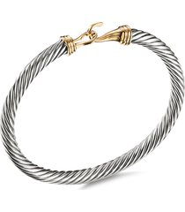 'cable classic buckle' silver and 18k yellow gold bracelet
