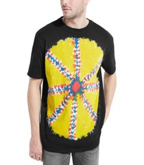 guess men's oversized psychedelic dye t-shirt
