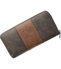 billetera larga para hombres baellerry rgi cartera-marrón