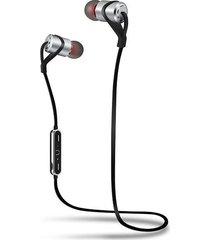 audifonos bluetooth inalámbricos hifi deportivo con micrófono - plata