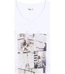 camiseta m/c con screen feel color blanco, talla l
