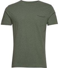 alder tee t-shirts short-sleeved grön knowledge cotton apparel