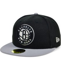 new era brooklyn nets basic 2-tone 59fifty cap