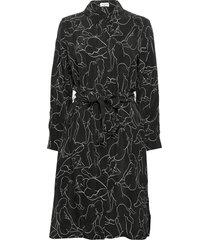 dress woven fabric jurk knielengte zwart gerry weber edition