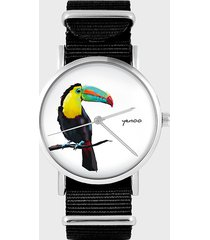 zegarek - tukan - czarny, nylonowy