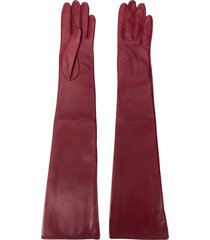 manokhi long gloves - red