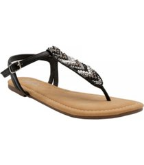 sugar women's polina beaded thong sandals women's shoes