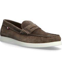 biodegradable loafer shoe loafers låga skor brun tommy hilfiger