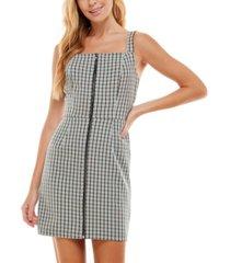 kingston grey juniors' printed jumper sheath dress