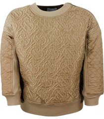 burberry recycled cotton and polyester sweatshirt with monogram quilted panels