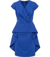 abito con volant (blu) - bodyflirt