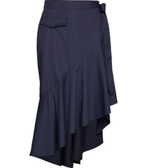 rodebjer amalia knälång kjol blå rodebjer