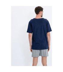 pijama curto em algodão com listras | lupo | multicores | g