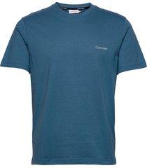 cotton chest logo t- t-shirts short-sleeved blå calvin klein