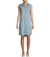 pure navy women's snake-print sleeveless dress - light blue - size l