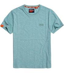 superdry t-shirt m1010024a crew neck tee t1a fresh mint space dye - groen