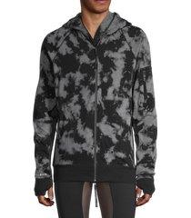 siki im men's cotton-blend zip-up hoodie - bleach - size m