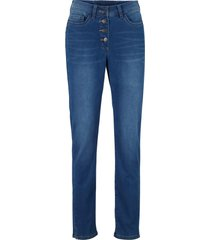 jeans push up con bottoni straight (blu) - bpc bonprix collection