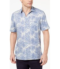 tasso elba island men's tropical print shirt, created for macy's