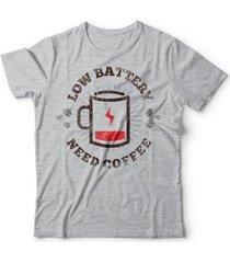 camiseta coffee battery - unissex