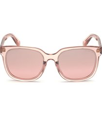 moncler 55mm mirrored square sunglasses in shiny pink /gradient violet at nordstrom