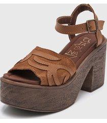 sandalia de cuero suela citadina siena