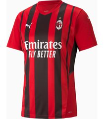 ac milan home replica heren trui, zwart/rood, maat 3xl | puma
