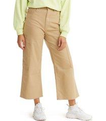 levi's women's high-waist wide-leg cropped utility pants
