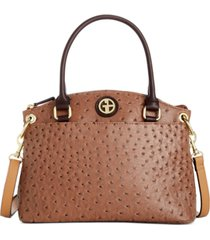 giani bernini faux ostrich mini satchel, created for macy's