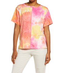 zella chromatic tie dye t-shirt, size medium in pink rouge at nordstrom