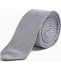 mens grey stone houndstooth tie