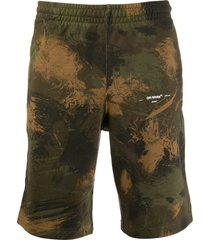 off-white bermuda shorts - green