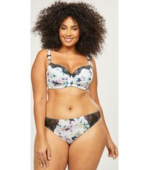 lane bryant women's butterfly floral thong panty 12 blooms and butterflies
