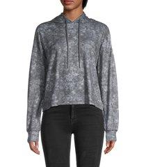 for the republic women's tie-dye hoodie - grey - size xs