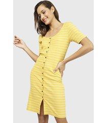 vestido jacqueline de yong amarillo - calce ajustado