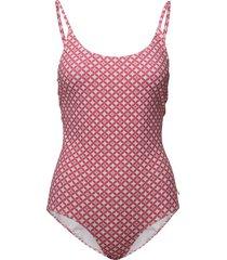 leola pattern swimsuit badpak badkleding roze morris lady
