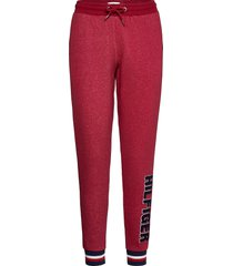 track pant pyjamasbyxor mjukisbyxor röd tommy hilfiger
