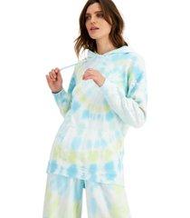 inc tie-dye embellished-sleeve hoodie, created for macy's